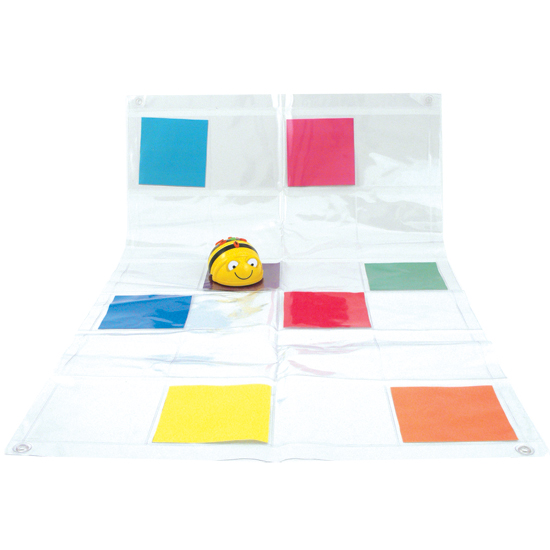 Transparent mat with pockets